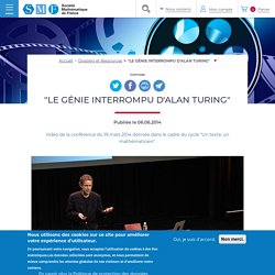 "Chazelle Bernard - ""Le génie interrompu d'Alan Turing"" - 2014"
