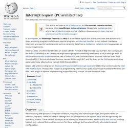 Interrupt request (PC architecture) - Wikipedia