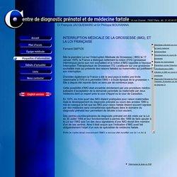 Interruption médical de la grossesse (IMG), et la loi française