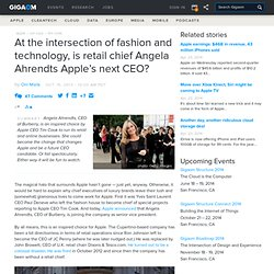 At the intersection of fashion and technology, is retail chief Angela Ahrendts Apple's next CEO?