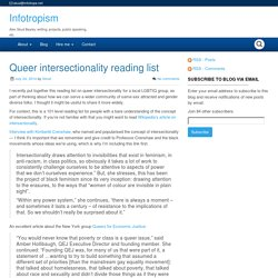 Queer intersectionality reading list