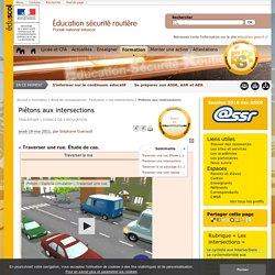 Piétons aux intersections - Éducation et sensibilisation à la sécurité routière