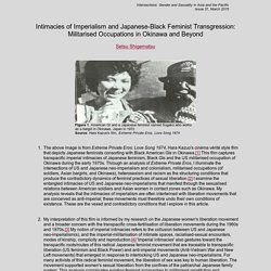 Intimacies of Imperialism and Japanese-Black Feminist Transgression: Militarised Occupations in Okinawa and Beyond