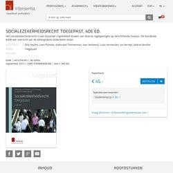 Socialezekerheidsrecht toegepast.