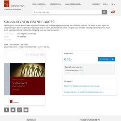Sociaal recht in essentie. (E-book).