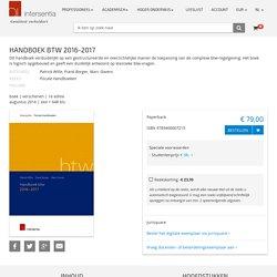 Handboek BTW 2016-2017.