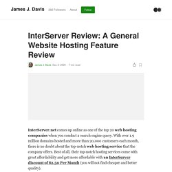 InterServer Review: A General Website Hosting Feature Review
