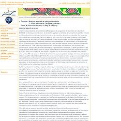 ESPACE - Projets intersites - Axe Analyse spatiale et société - Analyse spatiale et géogouvernance. L'utilité sociale de l'analyse spatiale