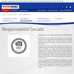 Intersport - responsabilité sociale
