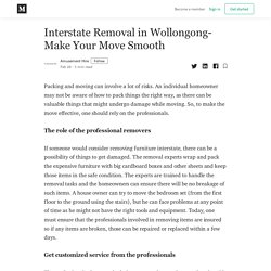Interstate Removal in Wollongong- Make Your Move Smooth