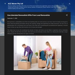 How Interstate Removalists Differ From Local Removalists?