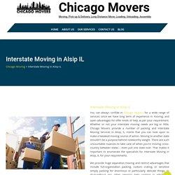 Interstate Moving in Alsip IL