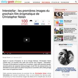 Interstellar : les premières images du prochain film énigmatique de Christoph...