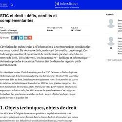 STIC et droit : défis, conflits et complémentarités