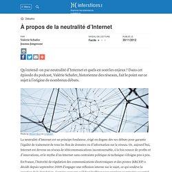 À propos de la neutralité d'Internet