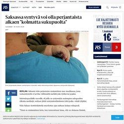 """Saksassa syntyvä voi olla perjantaista alkaen """"kolmatta sukupuolta"""" - Intersukupuolisuus"""