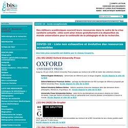 Ressources électroniques - liste et accès / Bibliothèque Interuniversitaire de la Sorbonne (BIS)