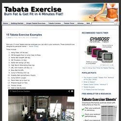 Tabata Interval Training | Tabata Workouts | Tabata Timer