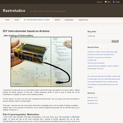 DIY intervalometer based on Arduino « Rastroludico