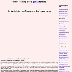 Music Intervals-3 training online music game