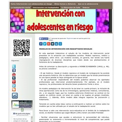 Intervencion con inadaptados - Curso Intervencion con ...