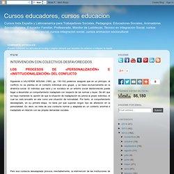Cursos para educadores sociales y trabajadores sociales: INTERVENCION CON COLECTIVOS DESFAVORECIDOS