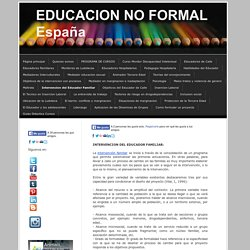 Intervencion del Educador Familiar