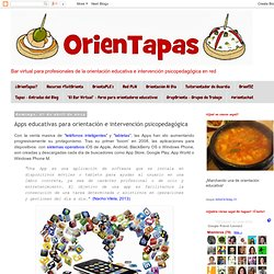 OrienTapas: Apps educativas para orientación e intervención psicopedagógica