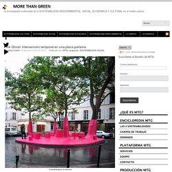 Pink Ghost: intervención temporal en una plaza parisina
