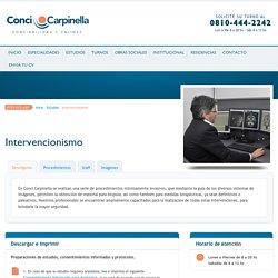 Intervencionismo en Córdoba - Conci Carpinella
