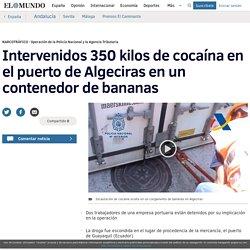 Intervenidos 350 kilos de cocaína en el puerto de Algeciras en un contenedor de bananas