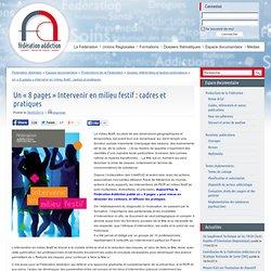 """Un """"8 pages"""" Intervenir en milieu festif : cadres et pratiques"""