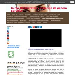 Como intervenir ante los malos tratos - Formacion a distancia toda España y Latinoamerica