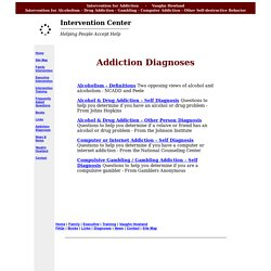 Intervention Center - Addiction Diagnoses