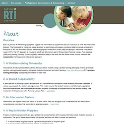 About RTI - Response To Intervention (RTI) - A Rhode Island Technical Assistance Project (RITAP) Site