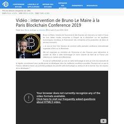 intervention de Bruno Le Maire à la Paris Blockchain Conference 2019