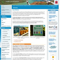 Les filières / Déchets / Domaines d'intervention / L'ADEME en Nouvelle-Calédonie