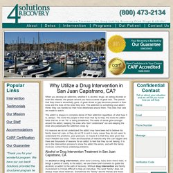 Drug Intervention Services in San Juan Capistrano