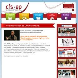 Une intervention de Christian Maurel - CFS - EP