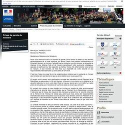 Jean-Yves Le Drian - LPM - Intervention devant la Commission des affaires étrangères, de la défense et des forces armées du Sénat