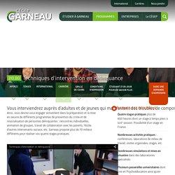Techniques d'intervention en délinquance - Cégep Garneau