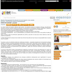 M1 Intervention sociale et développement (FC)