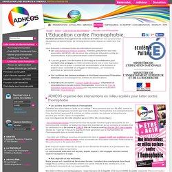 Intervention en milieu scolaire pour lutter contre l'homophobie, les préjugés sur l'homosexualité, formation e-learning contre l'homophobie