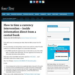 time currency intervention inside information bank 3 October 2014