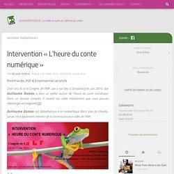 """Intervention """"L'heure du conte numérique"""" - Jeuxvidéothèque"""