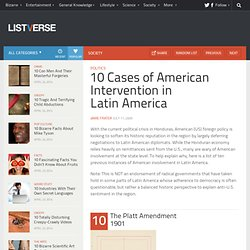 10 Cases of American Intervention in Latin America