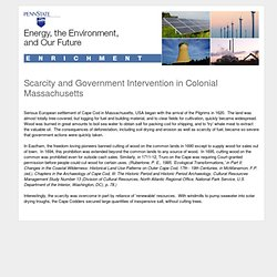 Lesson 12.2 Enrichment: Scarcity and Government Intervention in Colonial Massachusetts