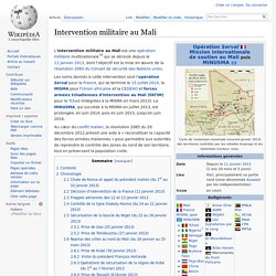 Intervention militaire au Mali
