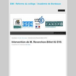 Intervention de M. Reverchon-Billot IG EVS