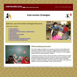 Intervention Strategies